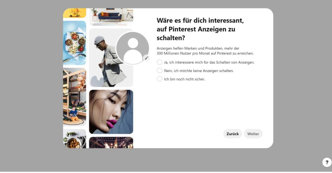 Pinterest Business Profil einrichten Interesse an Werbeanzeigen