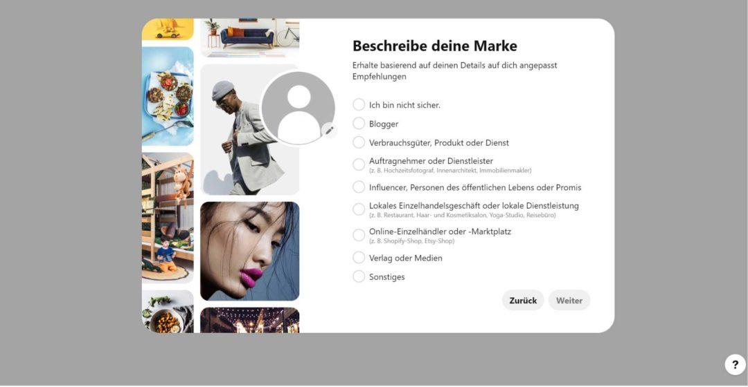 Pinterest Business Profil einrichten Marke beschreiben