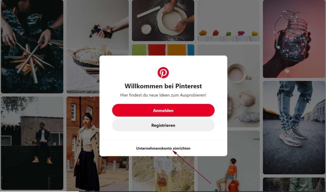 Pinterest Business Profil neu anlegen