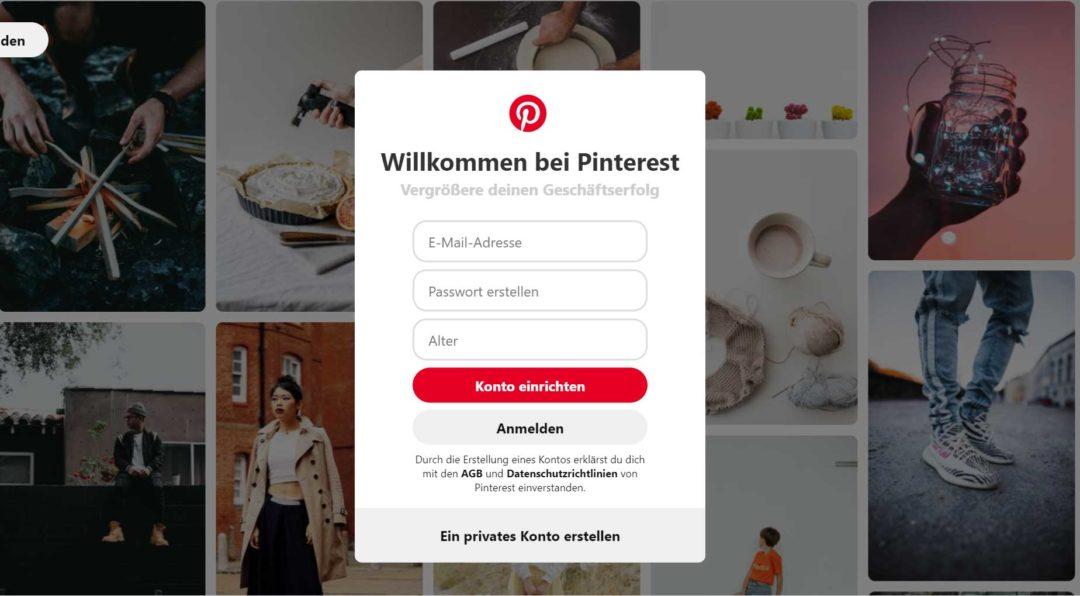 Pinterest Business Profil neues Konto