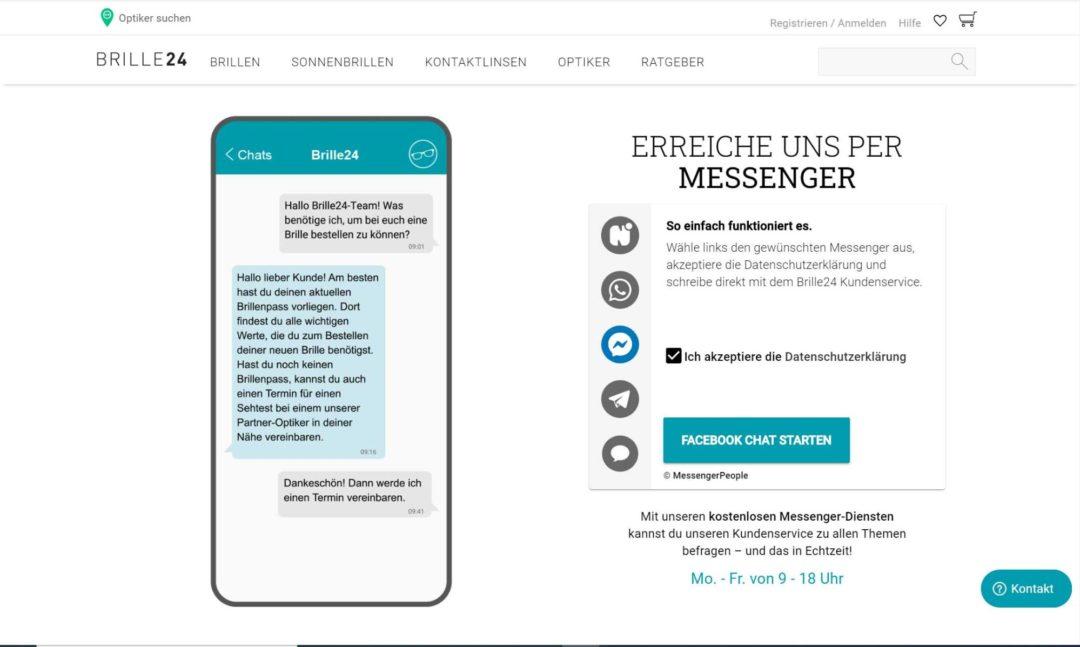 Kundenservice Messenger Brille24