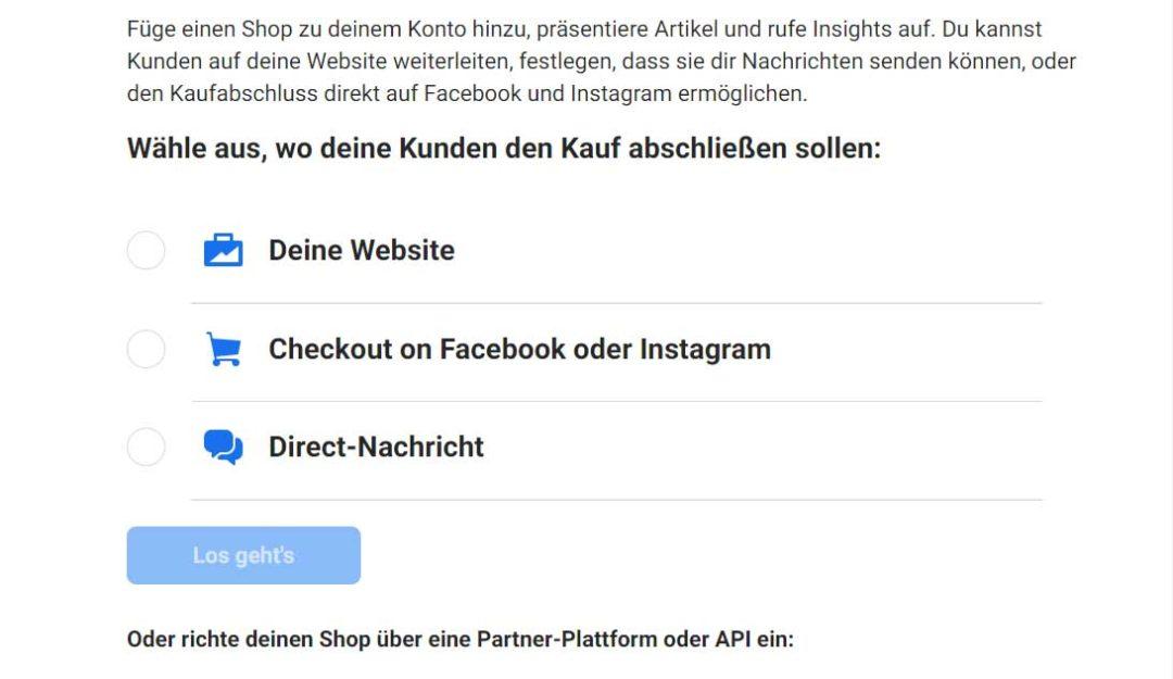Facebook Commerce Manager Shop einrichten