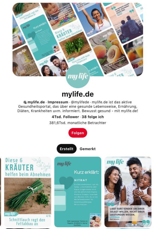 mylife.de Pinterest