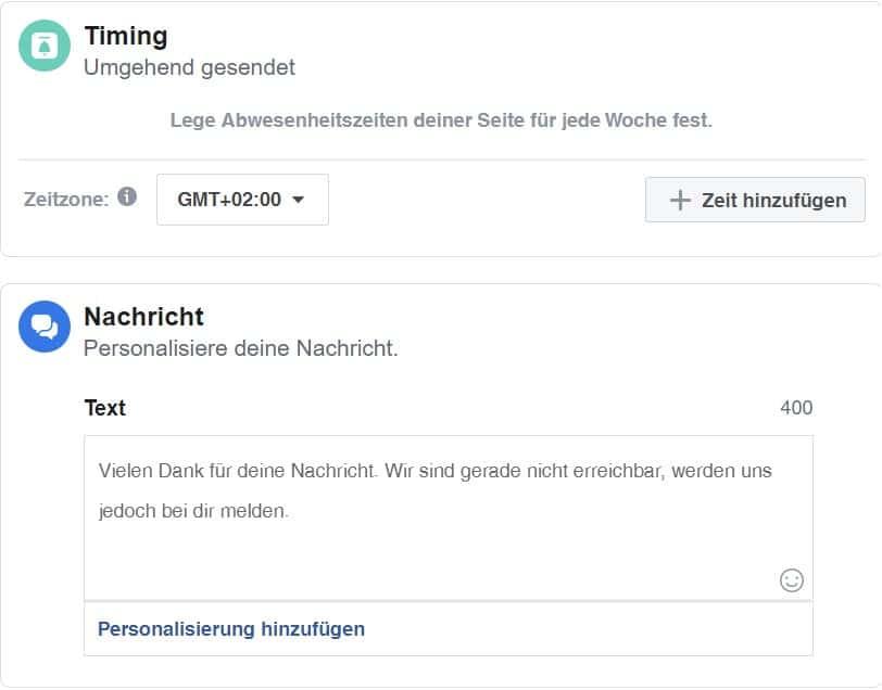 Facebook Hacks Abwesenheitsnotiz