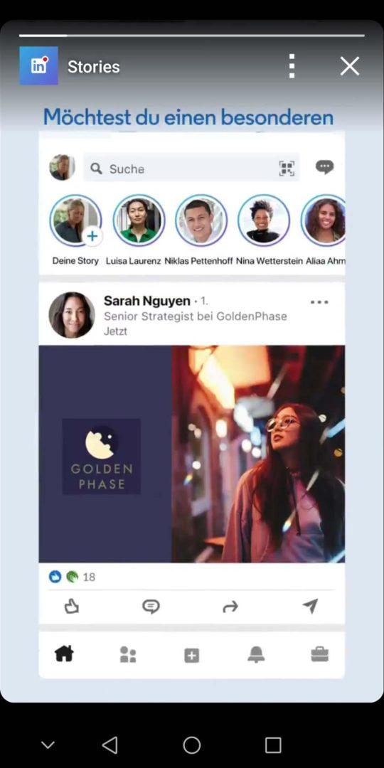LinkedIn Stories Teaser