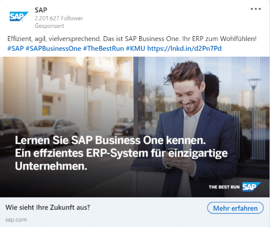 LinkedIn Ads Single Image Ad